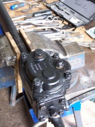 Steering box after being rebuilt